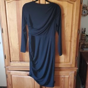 NWT H&M Asymmetrical Midi Long Sleeve Dress